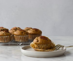 Banaan-pecan muffins