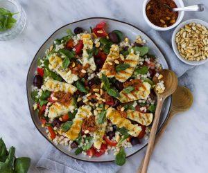 Halloumi salade