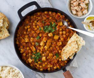Indiase curry kikkererwten