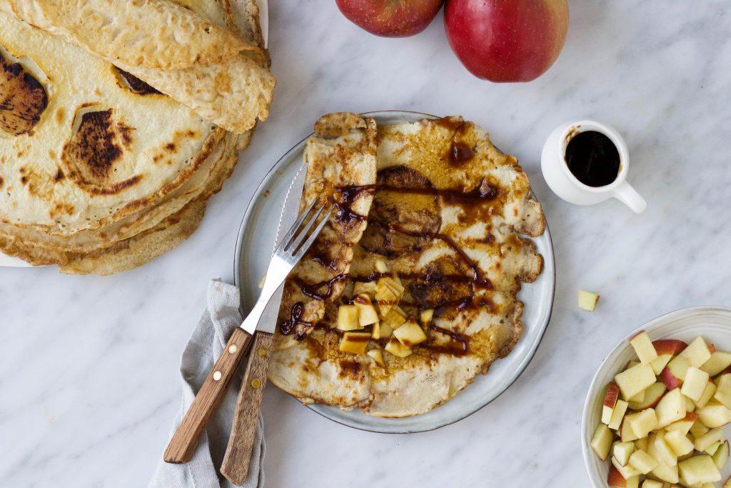 vegan pannenkoeken appel