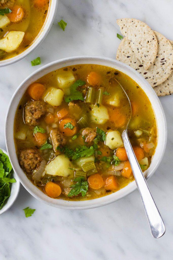 Groentesoep met aardappel